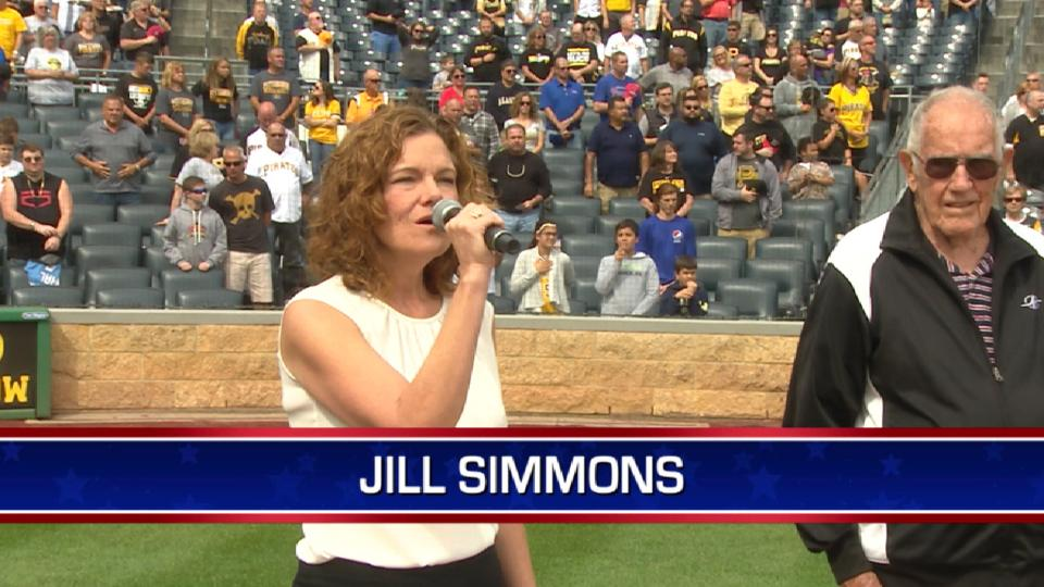 Simmons performs anthem at PNC