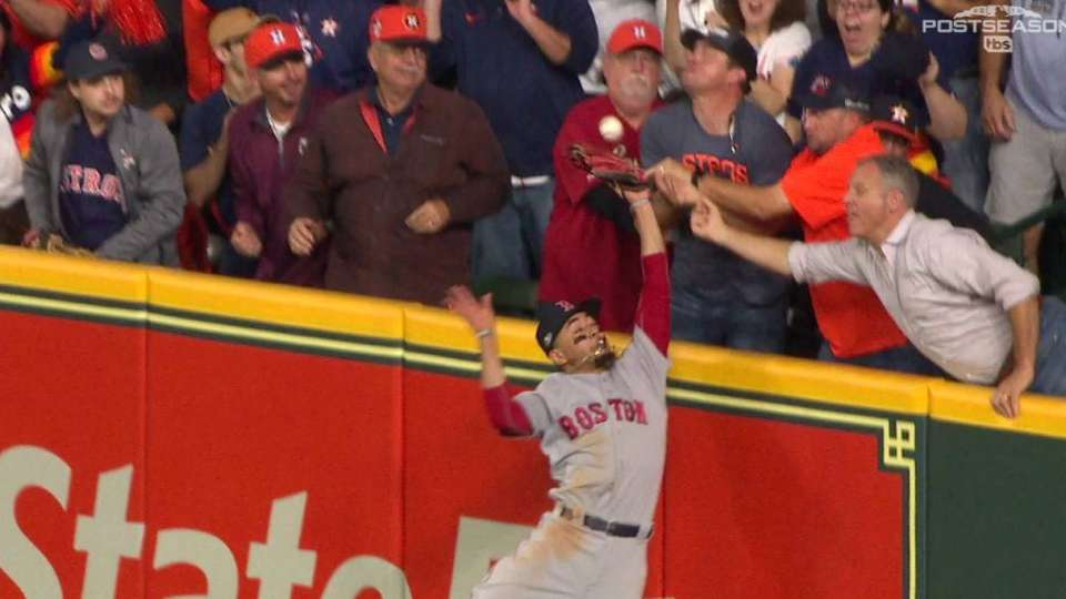 Betts robs HR after interference