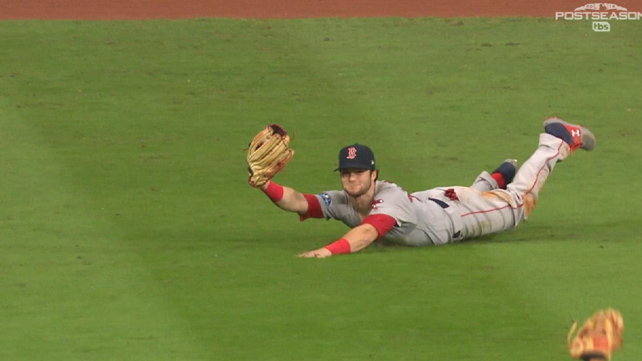 Red Sox vs  Astros: Andrew Benintendi's sensational catch