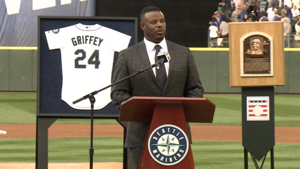 Griffey Jr. has number retired