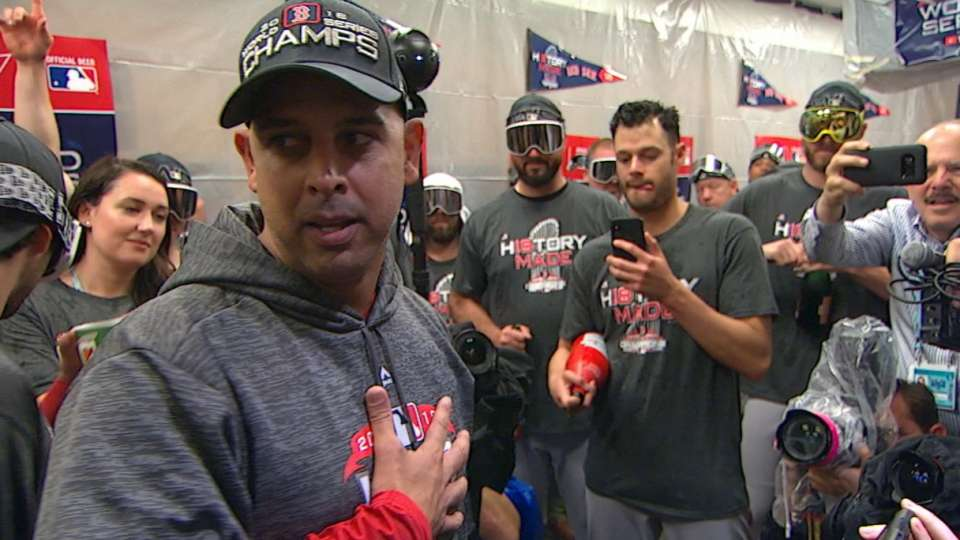 Cora gives speech in clubhouse