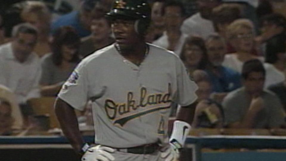 Tejada's first big league hit