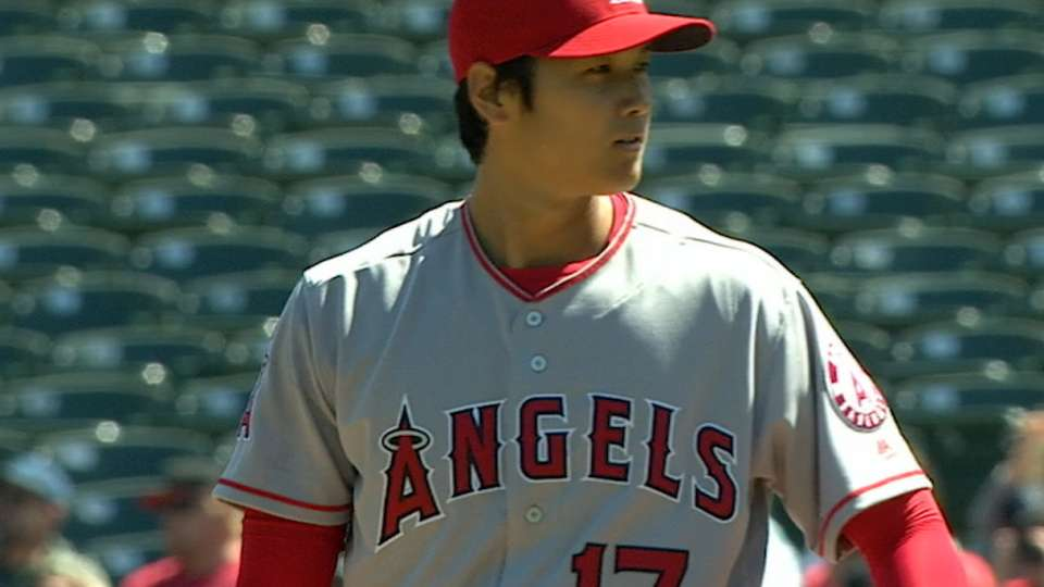 Ohtani wins MLB pitching debut