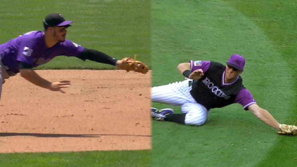 2 Rockies win Gold Gloves