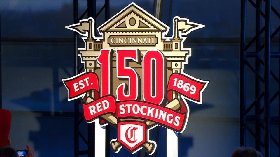 Reds 150th anniversary logo