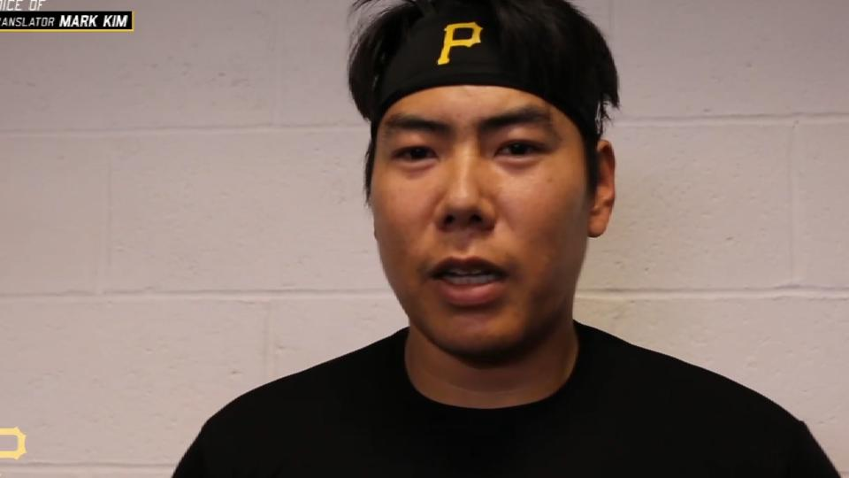 Kang on signing with Pirates