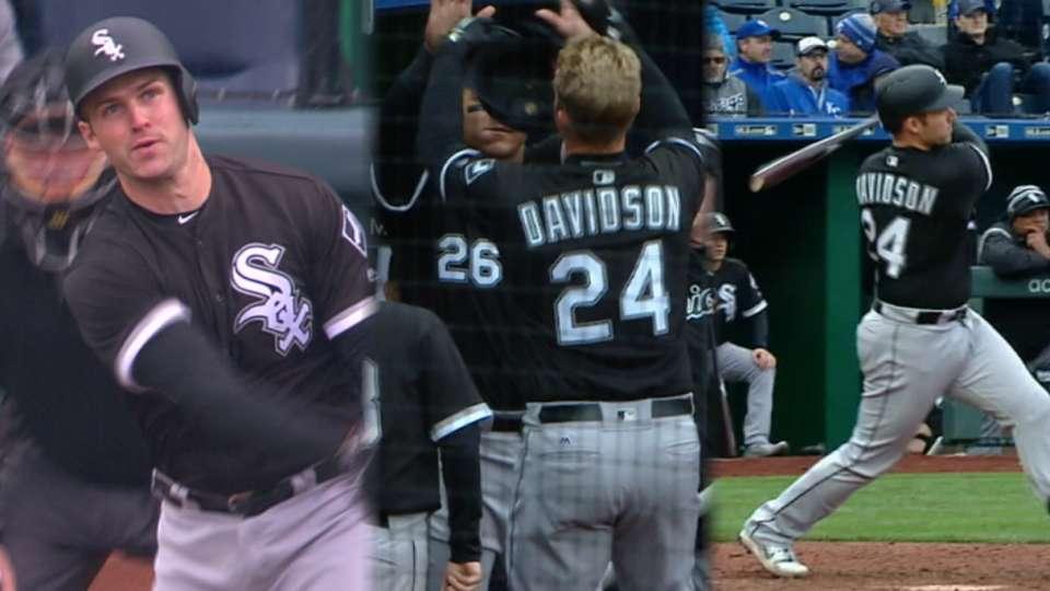 Davidson's three-homer game