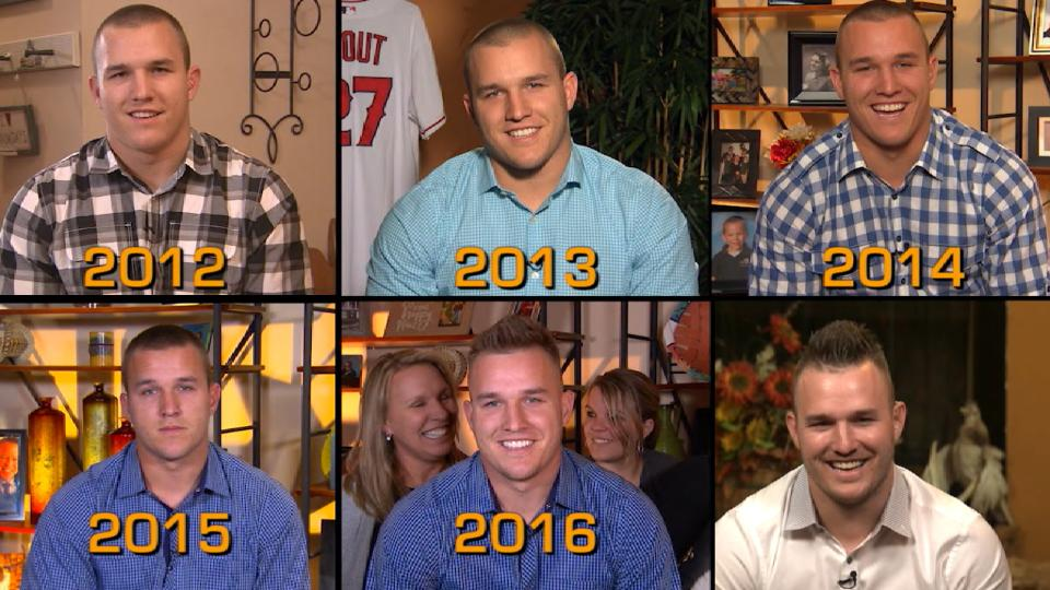 Mike Trout's MVP hairstyles