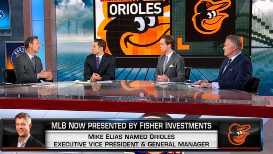 O's name Mike Elias Executive VP