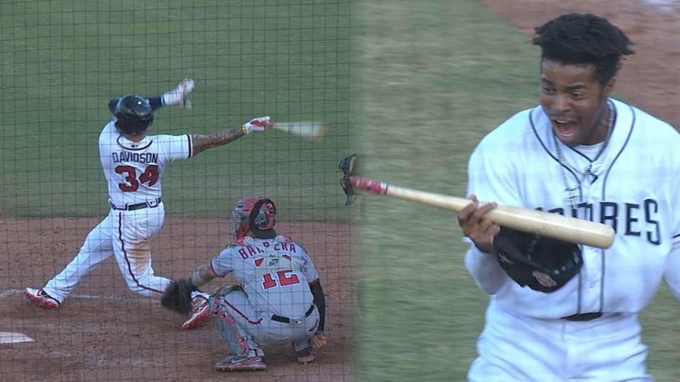 Davidson's walk-off home run