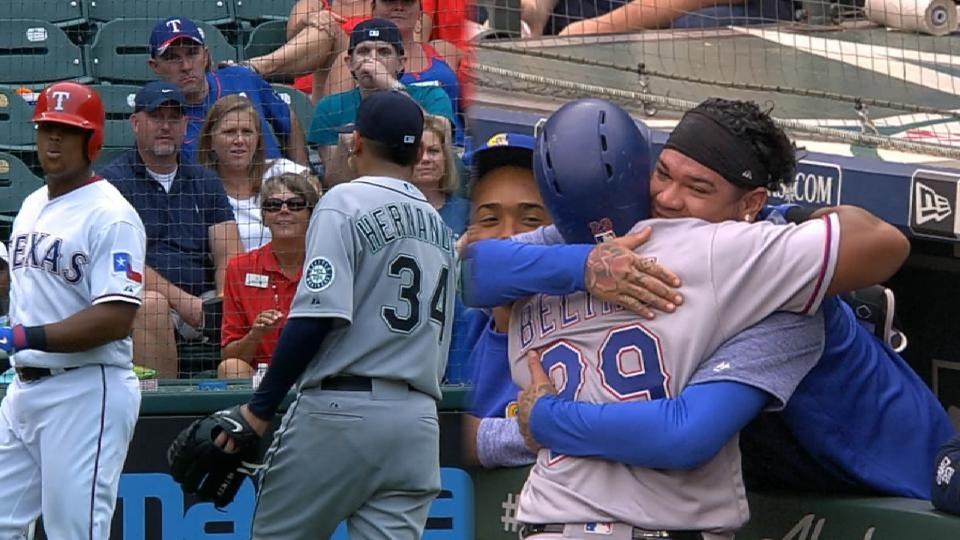 Beltre, King Felix having fun
