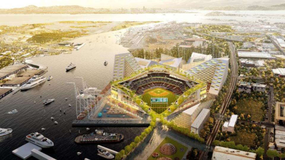 A's unveil new ballpark plans