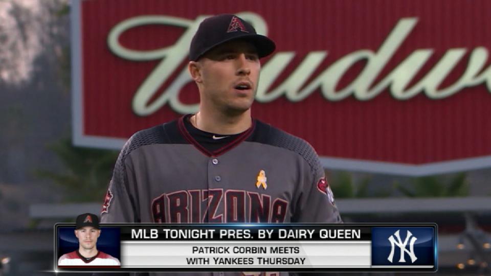 Corbin visits Yankees in Bronx