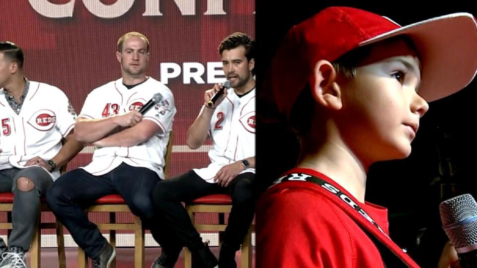 Reds take questions from kids