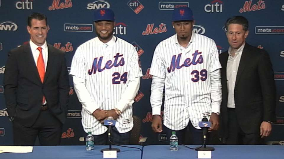 Cano, Diaz introduced as Mets