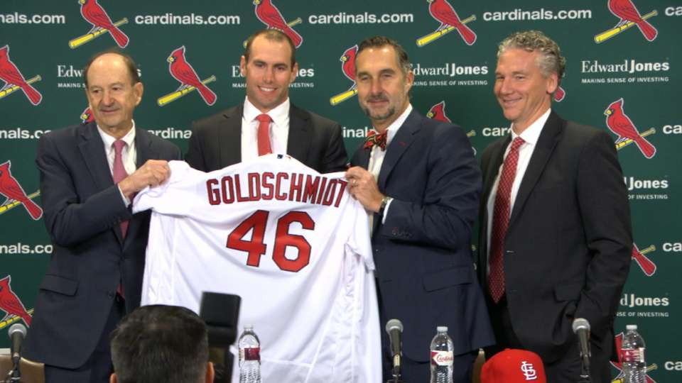 Cardinals introduce Goldschmidt