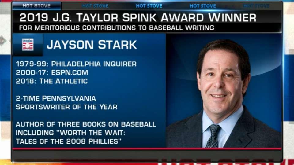 Stark named Spink Award winner