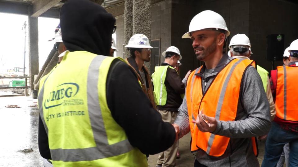 Rangers treat Globe Life workers