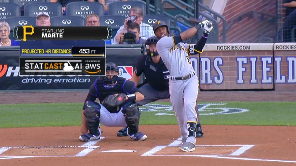 Statcast Long Homers: Pirates