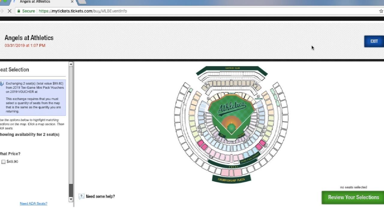 A\'s Ticket Technology | Oakland Athletics