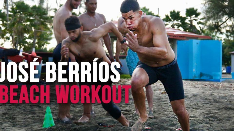 Berrios' beach workout