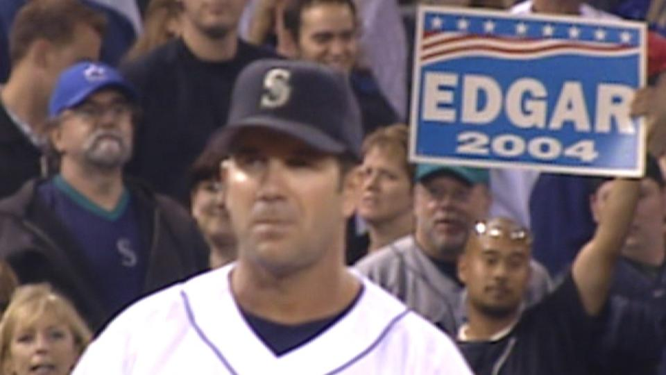 Edgar leaves third to ovation