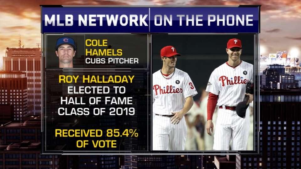 Hamels praises Halladay's career