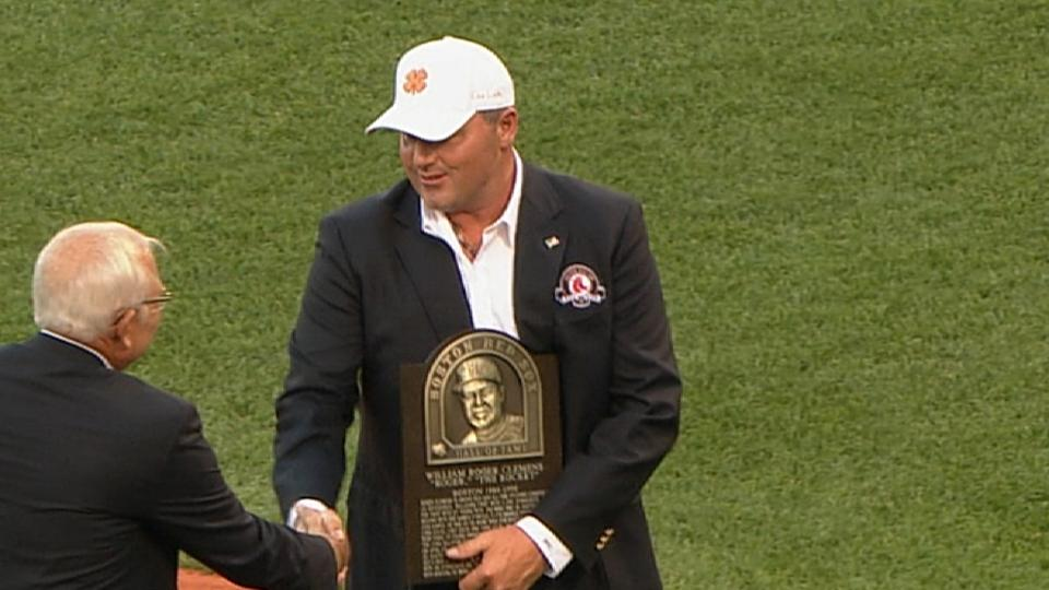 Clemens goes into Red Sox HOF