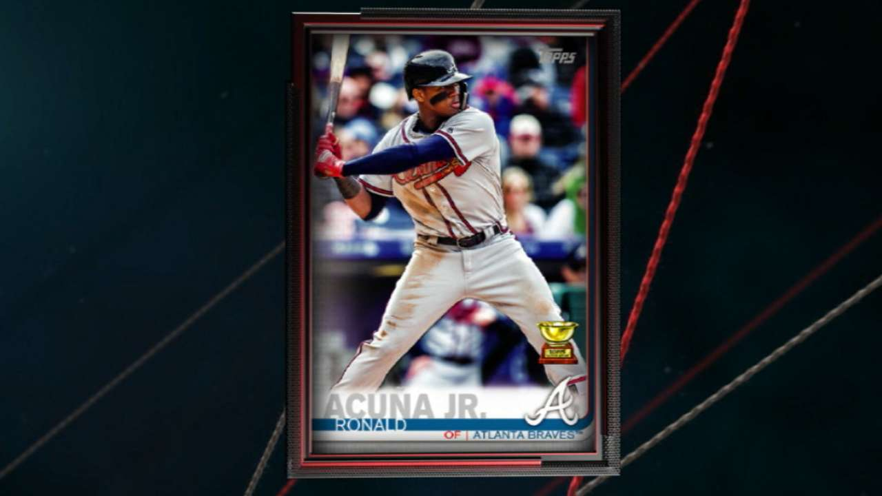 Ronald Acuna Jr Will Be The 2019 Topps No 1 Baseball Card Mlbcom