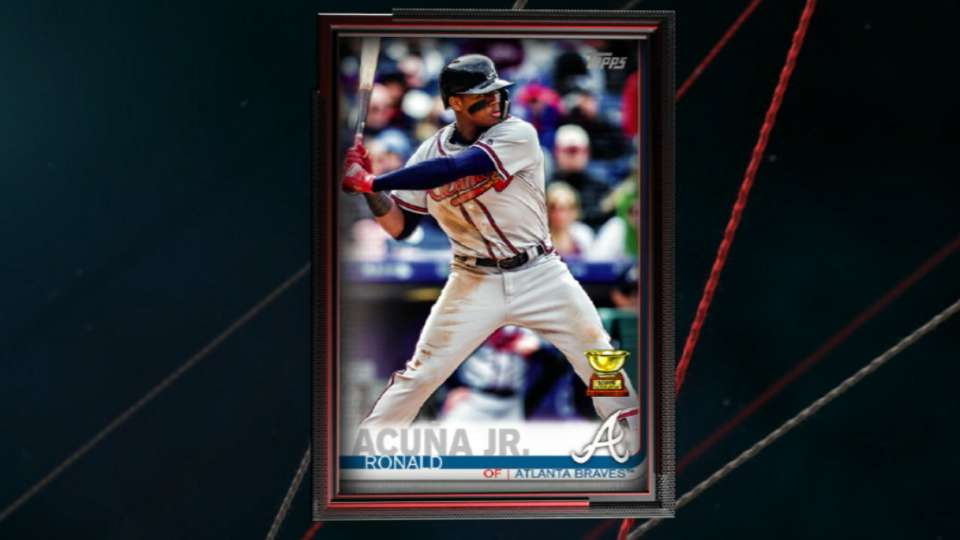 Acuna voted Topps card No. 1