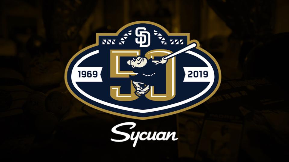 Padres 50th Anniversary logo