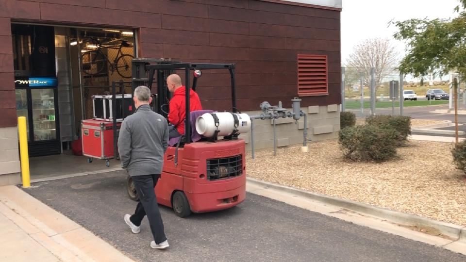 Reds truck arrives in Goodyear