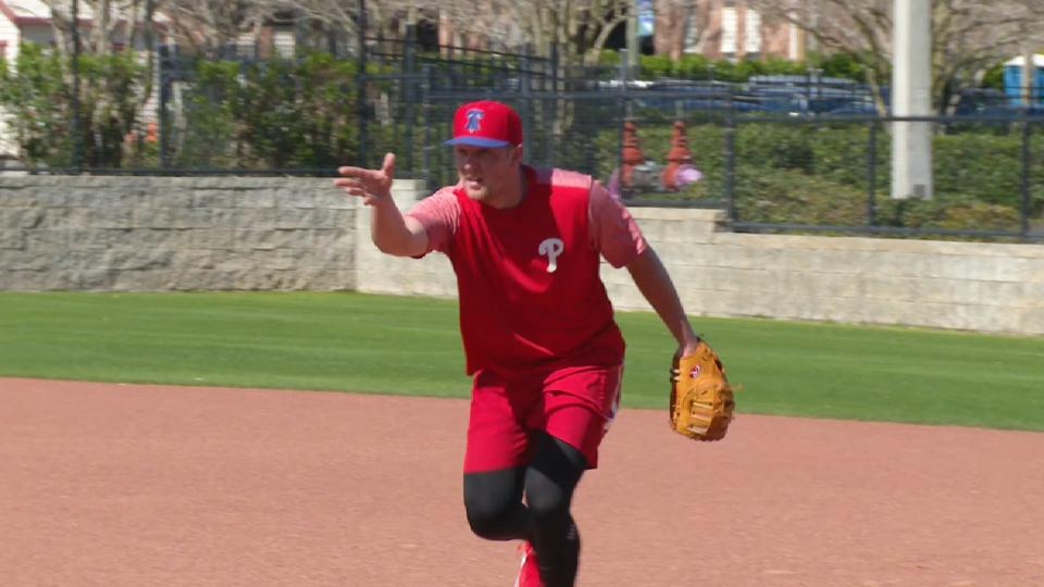 Phillies work out in Clearwater