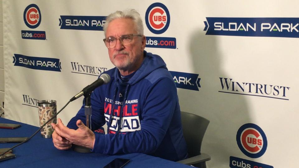 Joe Maddon on Baez, Darvish