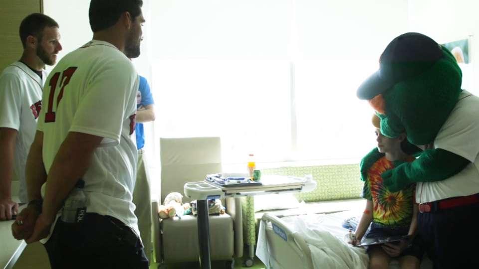 Sale and Eovaldi visit hospital