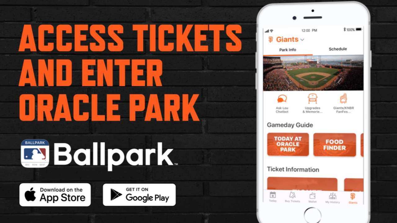 MLB Ballpark app | San Francisco Giants