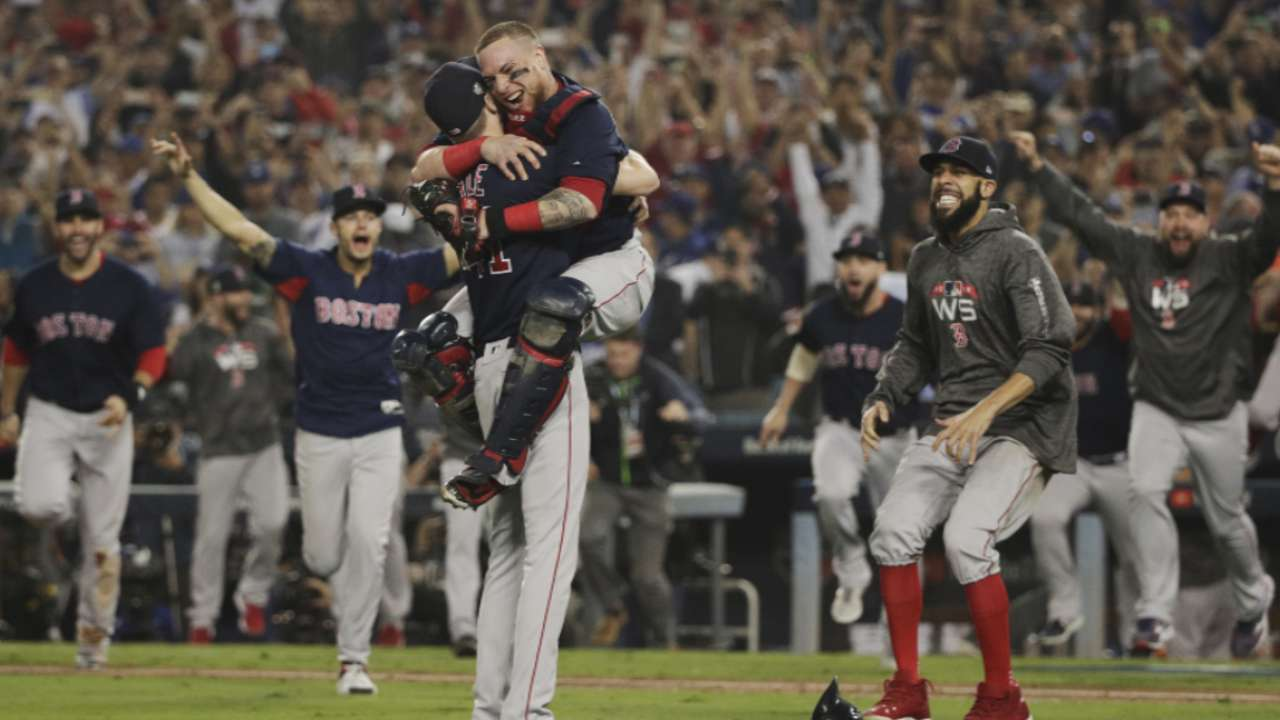 28bf687bc Hear the final out of the Red Sox's World Series title as called in  Spanish, Korean, Japanese and French