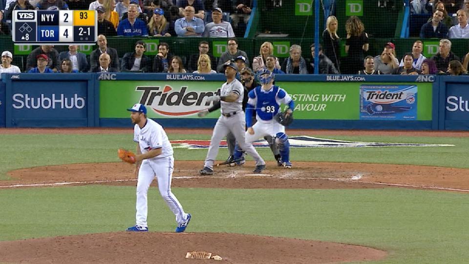 Hicks' mammoth home run